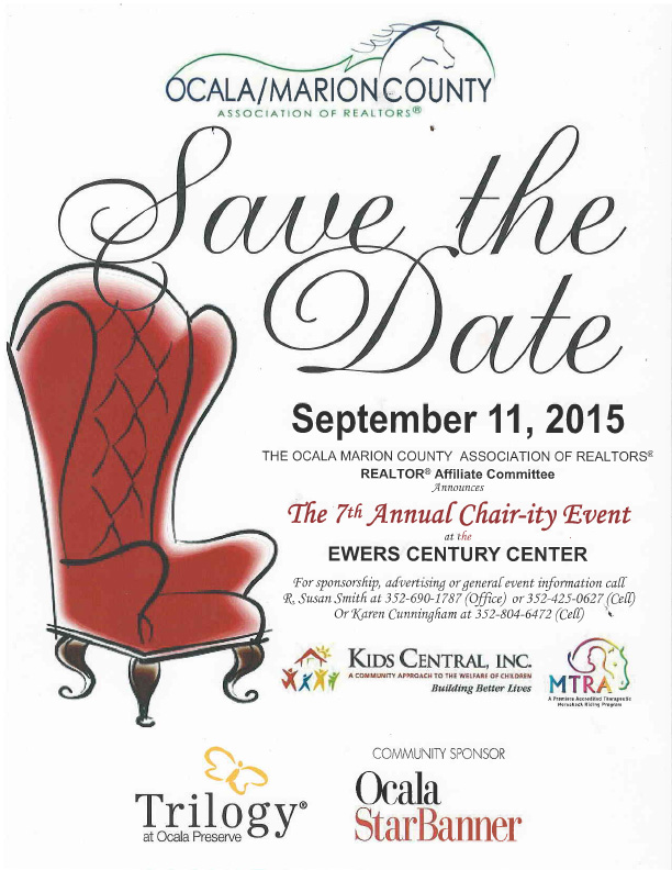Save the date for the 2015 Chair-ity Event