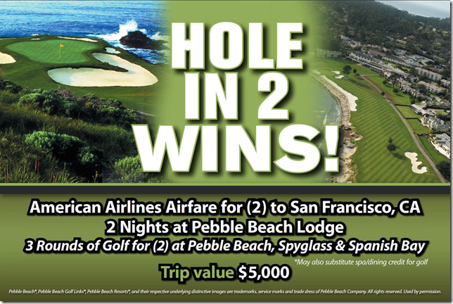 HOLE IN TWO PRIZE